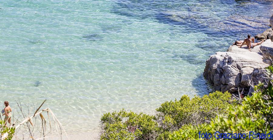 klaren Wasser Cavoli Auf der Insel Elba