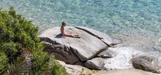 Sonnenbaden auf Insel Elba