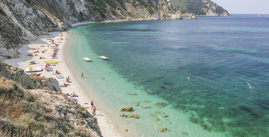 Strand von Sansone auf der Insel Elba