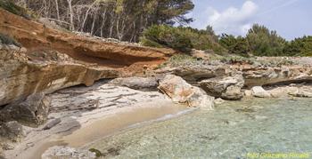 Toskana Pinaosa Island National Park des Toskanischen - Strand in der Nähe des Dorfes