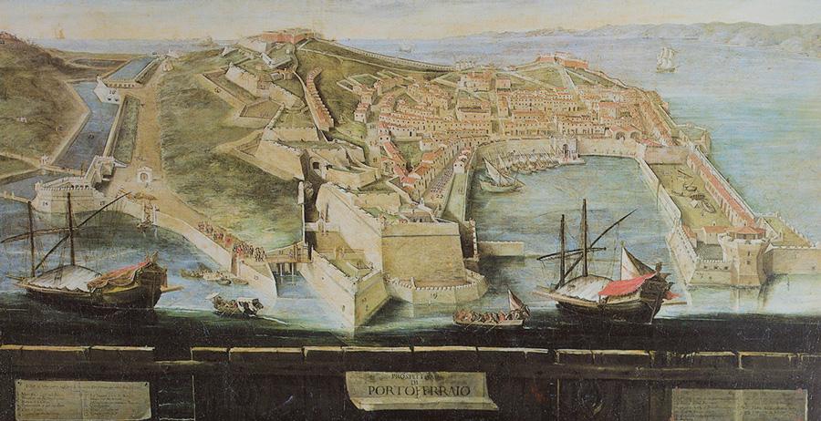 Portoferraio Insel Elba - Karte des siebzehnten Jahrhunderts