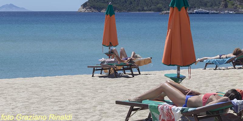 Insel Elba, Marina di Campo, Strand, Mittelmeer, Italien, Toskana, Sommer, Ferienwohnungen